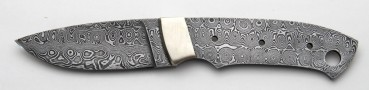 Damascus hunting knife blade 216 DB