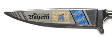 Bavarian blade with coloured etching 15