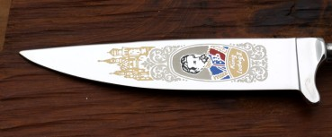 Bavarian blade with coloured etching 14