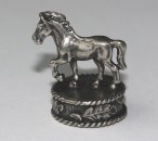 Silverplated mounting HORSE